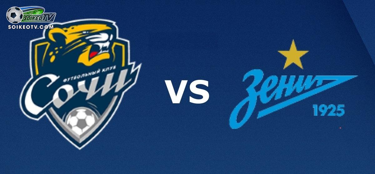Soi kèo, nhận định Sochi vs Zenit - 01h30 ngày 22/07/2019